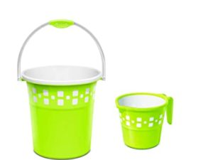 Milton Mozaic Plastic Bucket and Mug 20 Rs 405 amazon dealnloot