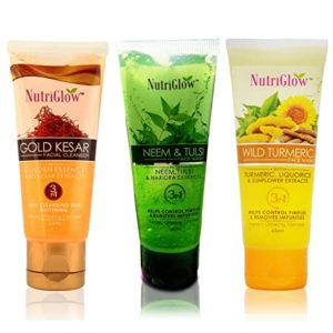 NutriGlow Face Wash Pack of 3 Gold Rs 174 amazon dealnloot