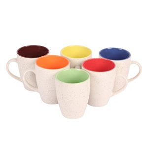 Saavre Eros Series Ceramic Coffee Mugs 6 Rs 299 amazon dealnloot