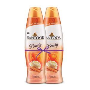 Santoor Perfumed Talc with Sandalwood Extracts 400g Rs 200 amazon dealnloot