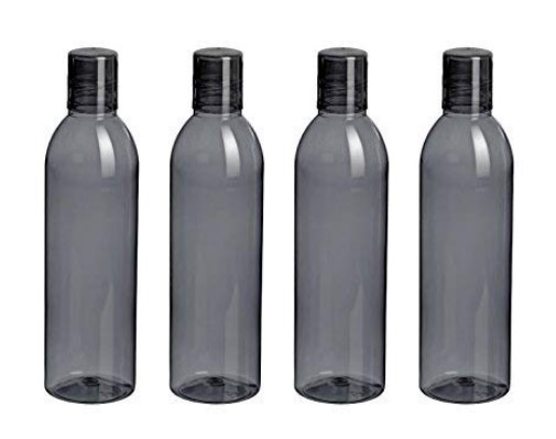 Steelo Savory Plastic Water Bottle, 1 Litre, Set of 4, Grey