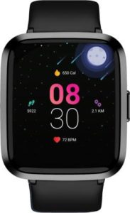 boAt Storm Smartwatch  (Black Strap, Regular)