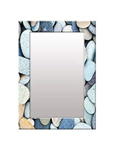 999Store Printed White Stone Rustic Pattern Mirror Rs 693 amazon dealnloot