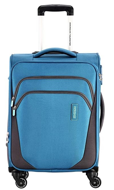 American Tourister Kansas Polyester 57 cms Blue Softsided Cabin Luggage