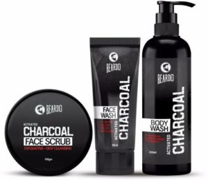 BEARDO Charcoal Combo Face Scrub Face Wash Rs 466 flipkart dealnloot