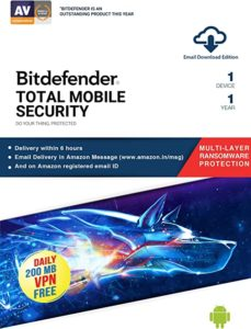 Bitdefender 1 Device 1 Year Mobile Security Rs 40 amazon dealnloot