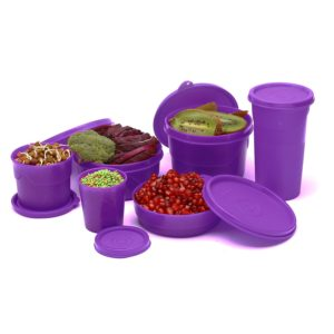 Cello Max Fresh Club Polypropylene Container Set, 6-Pieces, Color May Vary