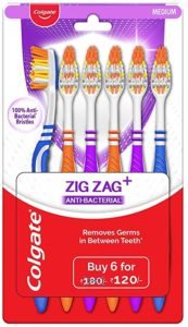 Colgate ZigZag Toothbrush Medium Pack of 6 Rs 61 amazon dealnloot