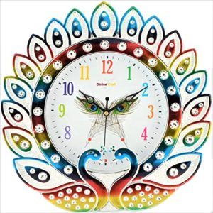 Dinine Craft Wall Clock for Home Multi Rs 229 amazon dealnloot