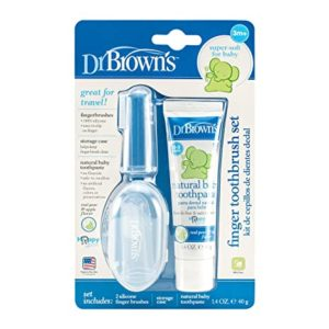 Dr Brown s Finger Toothbrush Set Pack Rs 332 amazon dealnloot
