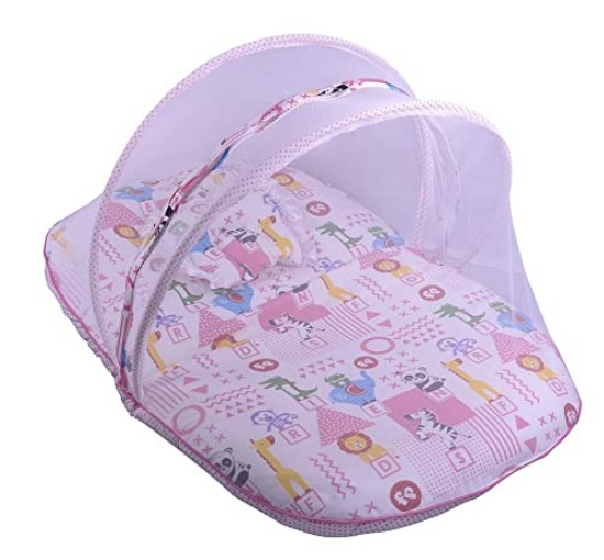 Fisher Price Mattress Set with Mosquito Net - Pink