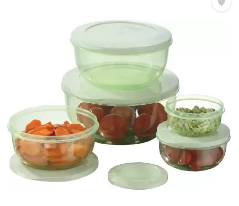 MASTER COOK - 1000 ml, 2700 ml, 290 ml, 580 ml, 1700 ml Plastic Grocery Container  (Pack of 5, Green)