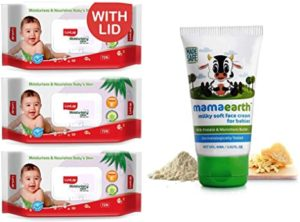 Mamaearth Milky Soft Natural Baby Face Cream Rs 283 amazon dealnloot