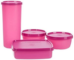Signoraware Best Jumbo Lunch with Bag Pink Rs 259 amazon dealnloot