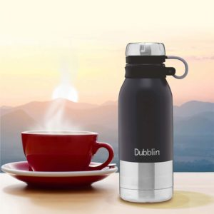 DUBBLIN Crown Premium Stainless Steel Double Wall Vacuum Insulated BPA Free Water Bottle