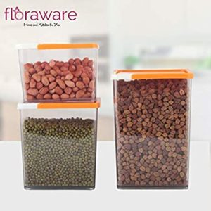 Floraware Storage Container for Kitchen Cereal Dispenser Rs 124 amazon dealnloot