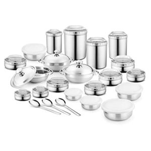 Jensons 16 PCS Stainless Steel Canister Set Rs 1474 amazon dealnloot