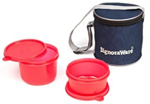 Signoraware Executive Small Lunch Box with Bag Rs 143 amazon dealnloot