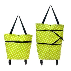 TADDY Foldable Shopping Trolley Bag with Wheels Rs 100 amazon dealnloot