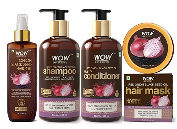 WOW Skin Science Onion Black Seed Oil Hair Care Ultimate 4 Kit