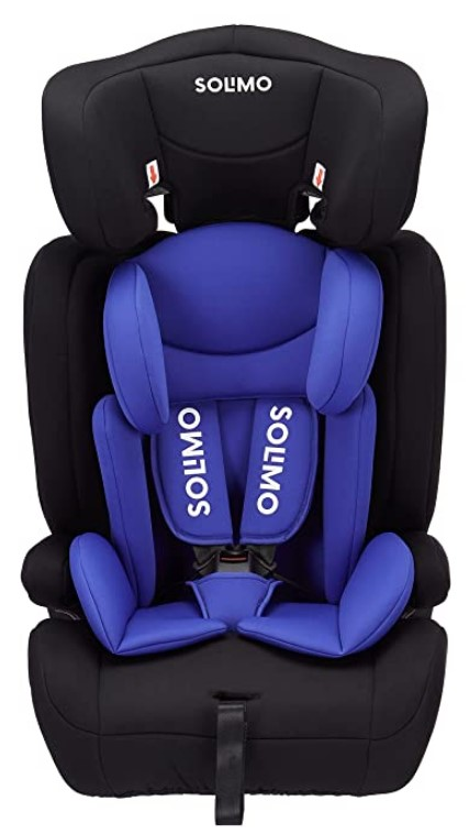 Amazon Brand - Solimo Car Seat for 9 Months - 12 Years, Blue