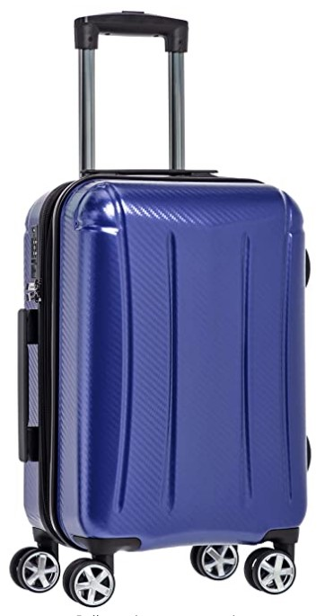 AmazonBasics Oxford Carry-On Expandable Spinner Luggage Suitcase with TSA Lock - 20 Inch, Blue