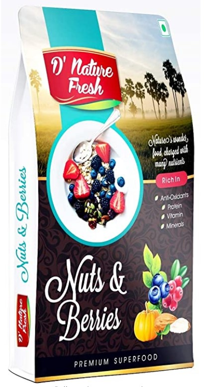 D'nature Fresh Nuts & Berries, 250 g