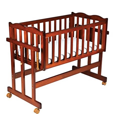 Luvlap C-30M Baby Multipurpose Wooden Cot with Mattress