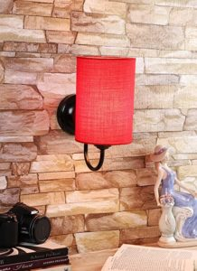 Ntu 229 red Cotton Wall Light by Rs 344 amazon dealnloot
