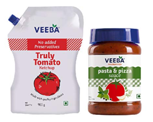 Veeba Truly Tomato Ketchup - No Added preservatives, 900g and Pasta-Pizza, 280g