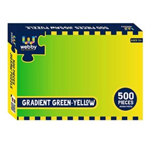 Webby Gradient Green Yellow Jigsaw Puzzle 500 Rs 155 amazon dealnloot