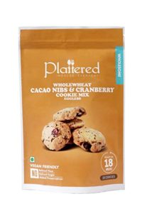 Plattered Cacao Nibs Cranberry Cookies Mix Whole Rs 189 amazon dealnloot