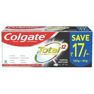 Colgate Total Anticavity Fluoride Toothpaste Charcoal Deep Rs 68 amazon dealnloot