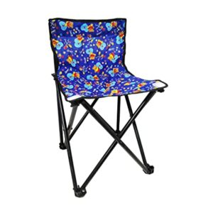 Portable Folding Camping Chair Blue Rs 547 amazon dealnloot