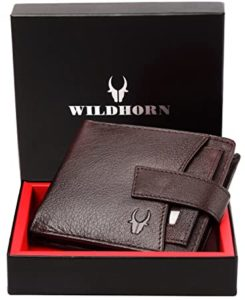 WildHorn RFID Protected Genuine High Quality Leather Rs 225 amazon dealnloot