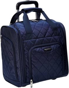 AmazonBasics 36 cm Navy Blue Quilted Underseat Rs 1899 amazon dealnloot