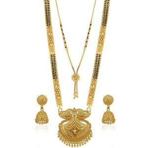 Brado Jewellery Traditional Necklace Pendant Gold Plated Rs 221 amazon dealnloot