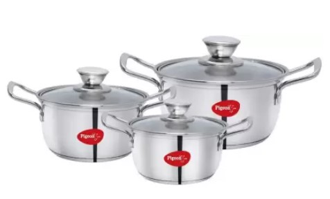 Pigeon Special Stainless Steel Conical Casserole 3 Set