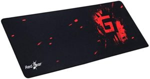 Redgear MP80 Type Gaming Mousepad Black Red Rs 259 amazon dealnloot