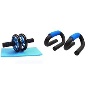 Strauss Double Wheel Ab Exerciser with Knee Rs 430 amazon dealnloot