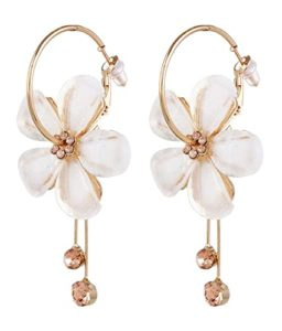 YouBella Jewellery Gold Plated Floral Earrings for Rs 186 amazon dealnloot
